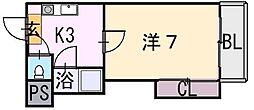エクセル近大前[4階]の間取り