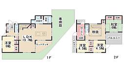 [一戸建] 兵庫県宝塚市山手台東5丁目 の賃貸【/】の間取り