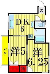 とちの木ハウス[103号室]の間取り