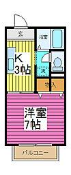 コート芝MIKI[1階]の間取り