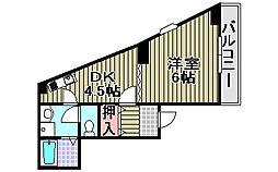 CREST−5[2階]の間取り