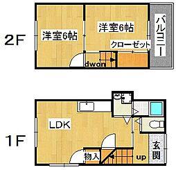 [一戸建] 大阪府大東市野崎4丁目 の賃貸【/】の間取り