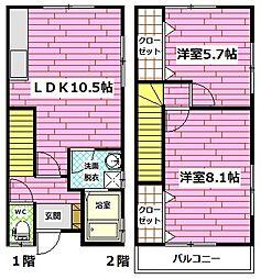 [テラスハウス] 広島県広島市安佐南区上安1丁目 の賃貸【/】の間取り