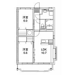 キャピタルマンション[2階]の間取り