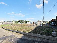 1号地及び2号地の敷地全体。敷地北側、4.5m公道より