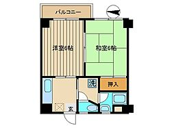 東京都品川区南大井6丁目の賃貸マンションの間取り