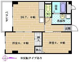 メゾン栄[3階]の間取り