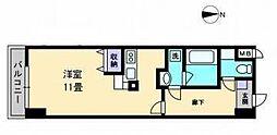 AXiS空港通[407 号室号室]の間取り