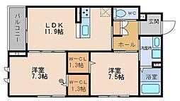 (仮称)シャーメゾン鍋島[2階]の間取り