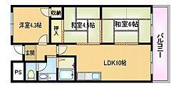 Osaka Metro谷町線 都島駅 徒歩7分の賃貸マンション 6階3LDKの間取り