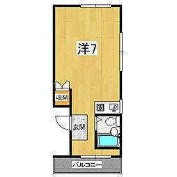 ラカサカンタール[4階]の間取り