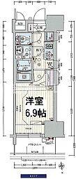 プレサンス阿波座駅前 5階1Kの間取り