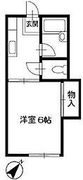 東京都板橋区上板橋2の賃貸アパートの間取り