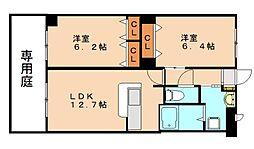 メゾンドルピナス2号館[1階]の間取り