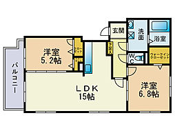 クラリス赤坂[2階]の間取り