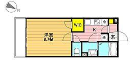 松村グランドコーポ[105号室]の間取り