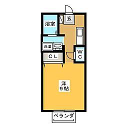 ノーブルサンMJ A棟[2階]の間取り