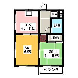 ピュアストM[2階]の間取り