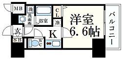 JR東海道・山陽本線 元町駅 徒歩9分の賃貸マンション 13階1Kの間取り
