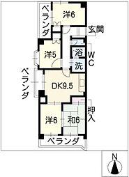 ロワールパーク[5階]の間取り