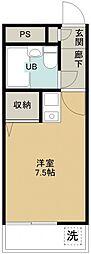 煉瓦館82[105号室号室]の間取り