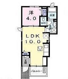 岡山県岡山市北区津島東3の賃貸アパートの間取り