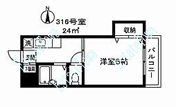 112209 エクセレンス秋山[316号室]の間取り