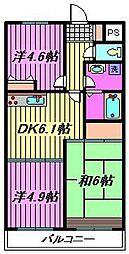 ハイクレスト喜沢南マンション[304号室]の間取り