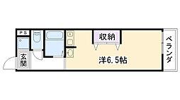 兵庫県西宮市花園町の賃貸マンションの間取り