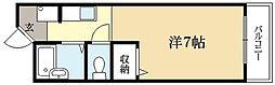 京都府京都市左京区高野清水町の賃貸マンションの間取り