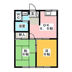 エステートピア21[1階]の間取り