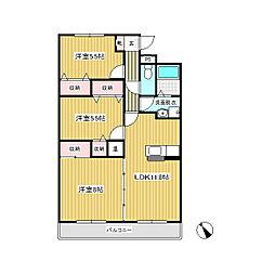 マンション花水木 II[1階]の間取り