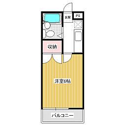 ガーデンハイツヤザキ[1階]の間取り