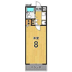 インペリアル桜[3階]の間取り