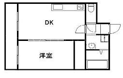 コーポラス安原[2階]の間取り