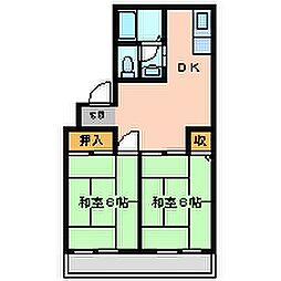 兵庫県尼崎市常吉1丁目の賃貸マンションの間取り