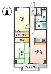 サンケンユーム[3階]の間取り
