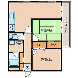 エスティヴァン武庫之荘[3階]の間取り