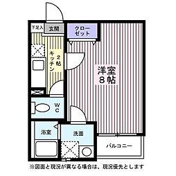 宮城県仙台市若林区三百人町の賃貸アパートの間取り