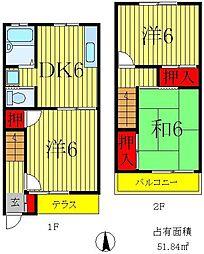 [テラスハウス] 埼玉県三郷市寄巻 の賃貸【/】の間取り