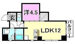 ライフコート湊町[602 号室号室]の間取り