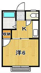 アリス1[2階]の間取り