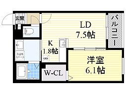 北海道札幌市中央区南28条西11丁目の賃貸マンションの間取り