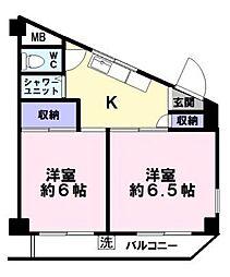 サン・モアマンション[4階]の間取り