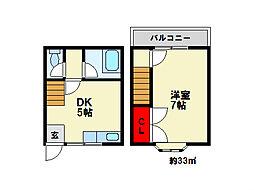 テラスハウス梅尾[2階]の間取り