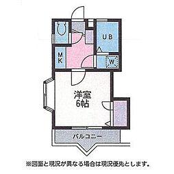 神奈川県厚木市妻田西3丁目の賃貸アパートの間取り