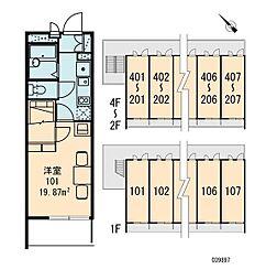 レオパレスウィステリア4[2階]の間取り
