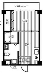 大阪府枚方市香里ケ丘10丁目の賃貸マンションの間取り