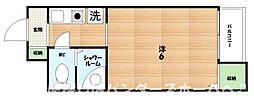 大阪府枚方市新町2丁目の賃貸マンションの間取り