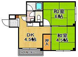 サントピア千島[5階]の間取り